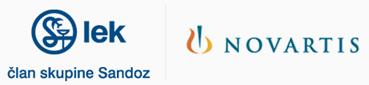 Logotipa Lek in Novartis